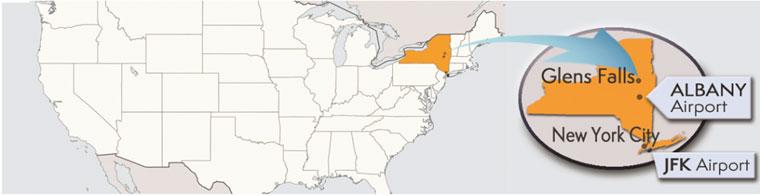 Glens Falls, NY Location
